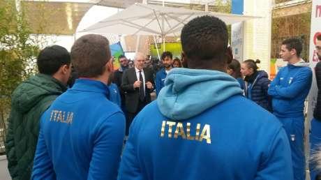 Alberto Miglietta - Amministratore Delegato di Coni Servizi oggi in Expò al Padiglione Kinder+Sport