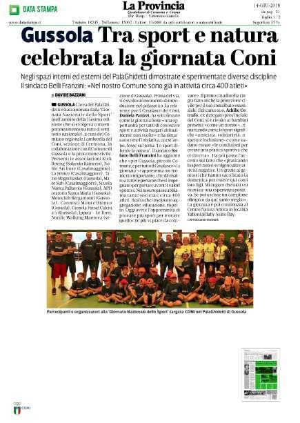 Coni Cremona: Giornata Nazionale dello Sport