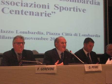 CONI Lombardia - Regione Lombardia e UNASCI - Cerimonia di Premiazione di alcune Società Sportive centenarie