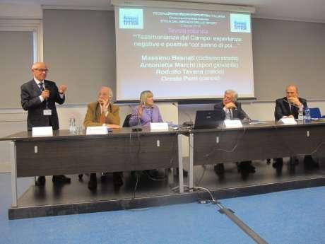 Convegno FMSI in Via Piranesi - Etica in Medicina dello Sport- Testimonianza anche del presidente Perri