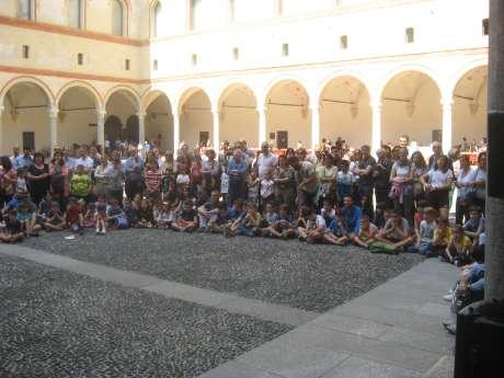 Gli scacchi al Castello Sforzesco con Sindaco Sala