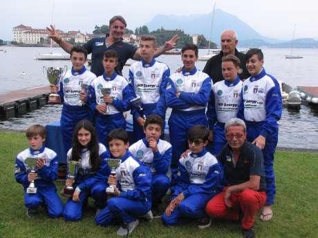 I ragazzi della Motonautica Lombarda a Stresa