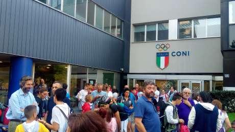 Trofeo CONI 2018: la partenza da Via Piranesi della Delegazione del CONI Lombardia verso Rimini