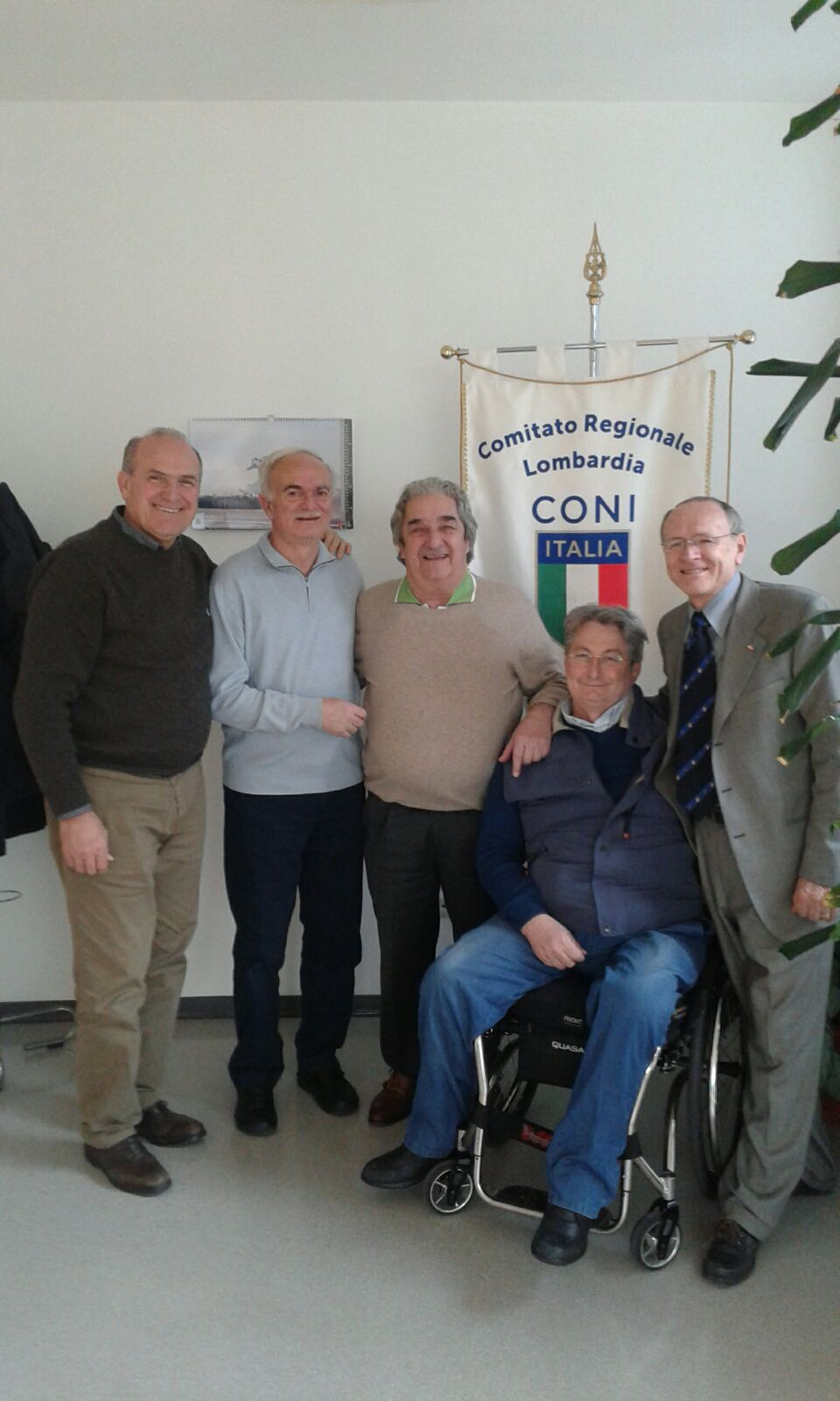 Il grande campione Sandro Mazzola in visita al CONI Lombardia